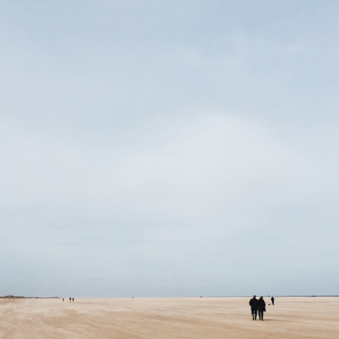 There's a certain rawness to Holkham Beach. It's a sparse, long beach with a tremendous wind and a cold chill that leaves you feeling exhausted and exhilarated at the same time.